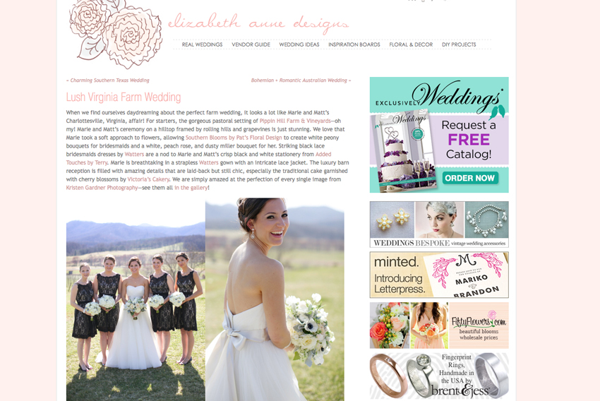 fc8951fc52a ... and I loved reliving their big day by perusing the EAD feature. Elizabeth  Anne Designs is one of my favorite wedding blogs